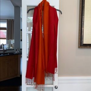 Accessories - Red/Orange Summer Pashmina